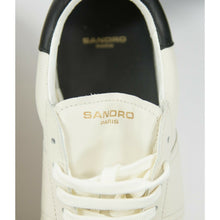 Load image into Gallery viewer, Sandro Unisex H17 Miran Cream Black Leather Sneaker Shoes Size 37 US 7