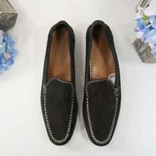 Load image into Gallery viewer, Salvatore Ferragamo ST00174 Black Suede Loafer Shoes Size 8 Extra Narrow