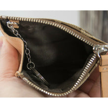 Load image into Gallery viewer, Coach Signature Natural Leather Mini Skinny Key Coin Purse Wallet