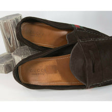 Load image into Gallery viewer, Gucci Brown Suede Mens Vintage Driving Moccasin Loafers Size 12.5 GUC