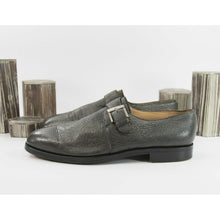 Load image into Gallery viewer, Gravati Charcoal Leather Monk Strap Loafer Oxford Size 14