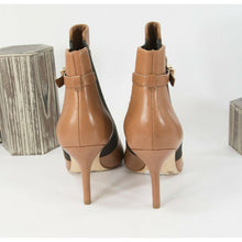 Load image into Gallery viewer, Michael Kors Jet Set Luggage Leather Pull On Belted Booties Sz 8