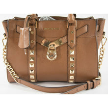 Load image into Gallery viewer, Michael Kors Nouveau Studded Hamilton Luggage Leather Extra Sm Crossbody Bag NWT