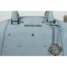 Load image into Gallery viewer, Michael Kors Pale Blue Riley Studded XS Satchel Crossbody Bag NWT