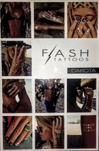 Load image into Gallery viewer, Flash Tattoos Dakota Jewelry Gold Silver Temporary Body Art