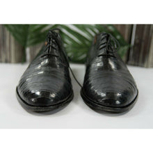 Load image into Gallery viewer, Davanzati Black Croc Leather Lace Up Oxford Loafer Shoes Size 13