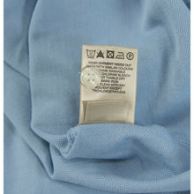 Load image into Gallery viewer, Burberry Pale Blue Waffle Weave Knit Polo Cotton Shirt M EUC