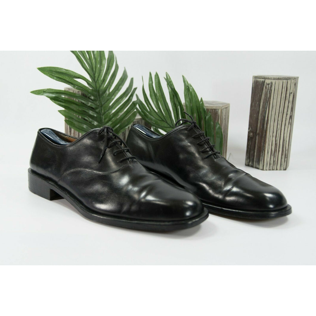 Salvatore Ferragamo Black Leather Lace Up Oxford Dress Shoes Size 13EE