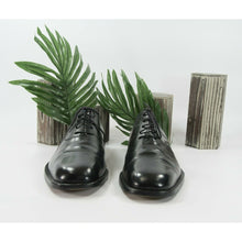 Load image into Gallery viewer, Salvatore Ferragamo Black Leather Lace Up Oxford Dress Shoes Size 13EE