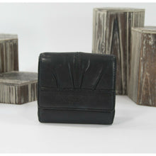 Load image into Gallery viewer, Coach Soho Pleated Black Leather Compact Trifold Wallet