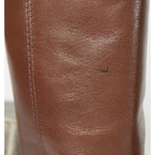 Load image into Gallery viewer, Tory Burch Rustic Brown Derby Smooth Leather Tall Riding Boots Sz 5.5
