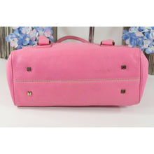 Load image into Gallery viewer, Lambertson Truex Vintage Bright Pink Leather Satchel GUC