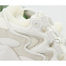 Load image into Gallery viewer, Sandro Atomic Monochrome White Leather Fabric Sneaker Shoes Size 42 US 9