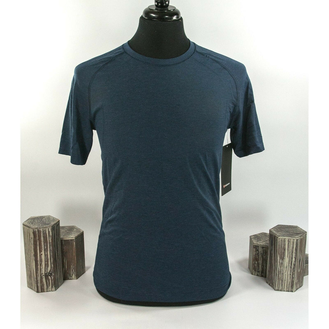 Lululemon Mens Blue Metal Vent Tech Short Sleeve Fitted T-shirt S NWT