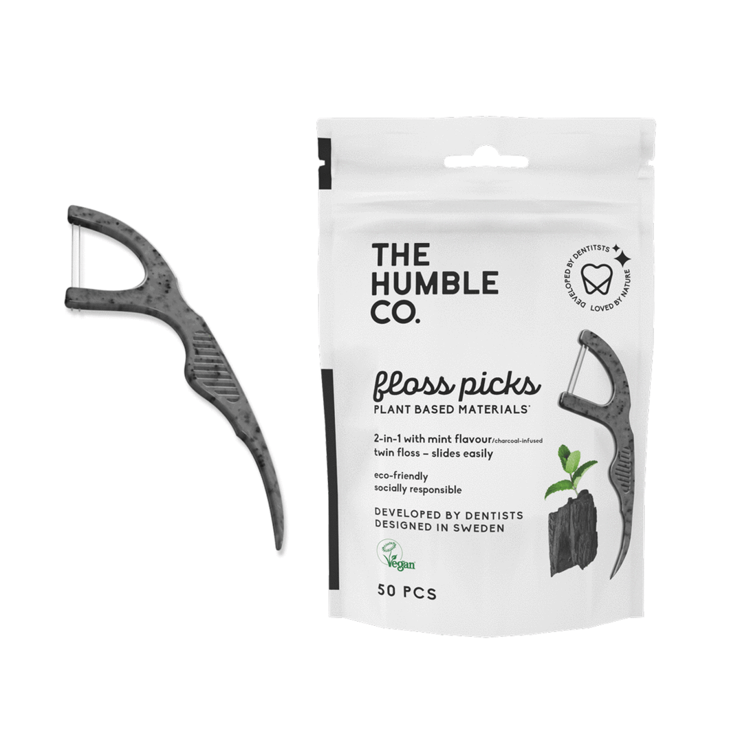 Humble Floss Picks | Charcoal