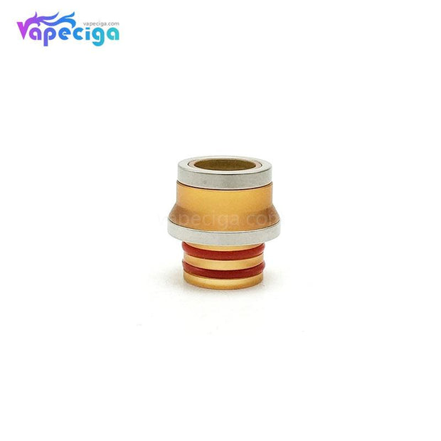 Coppervape 510 Drip Tip for Hussar Project X Style RTA Yellow + Silver
