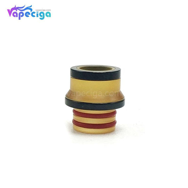 Coppervape 510 Drip Tip for Hussar Project X Style RTA Yellow + Black