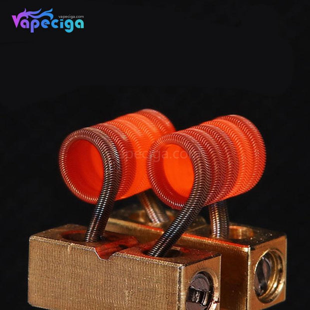 Goforvape Handmade Ni80 Pre-built Framed Staple Alien Coil 0.28ohm 5 Wraps Display