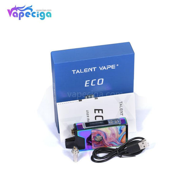 Talent Vape ECO Pod System VW Starter Kit 1100mAh 4.5ml Package Includes
