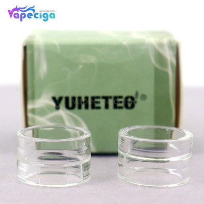 YUHETEC Transparent Replacement Glass Drip Tip for Smok TFV8 Baby V2 2PCs Real Shots