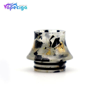 Black YUHETEC Universal 810 Luminous Resin Curved Drip Tip