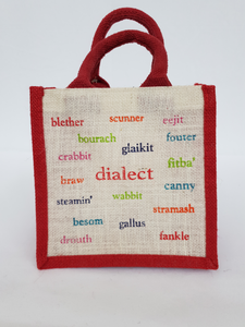 Scottish Dialect Lunch Jute Bag