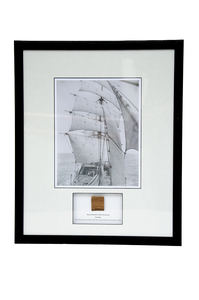 RRS Discovery Under Sail (1925) Framed Picture