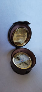 Robert Frost Poem Engraved Compass