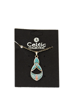 Load image into Gallery viewer, Celtic Necklace Teardrop