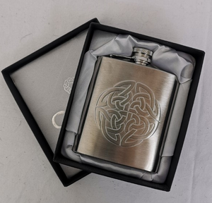 6oz Stainless Steel Celtic Knot Hip Flask