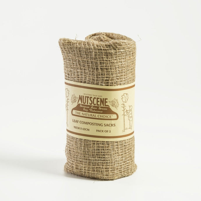 Nutscene Biodegradable Jute Leaf Composting Sacks x 2