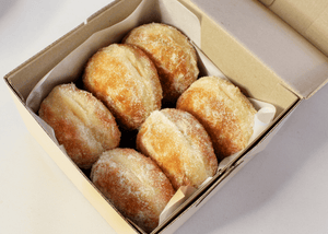 Plain Sugar Raised Doughnuts