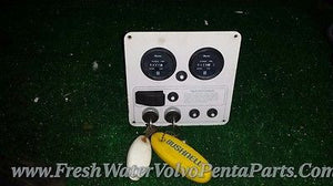 Volvo Penta Twin Ignition switches w keys Twin Hour Meters 430 hours