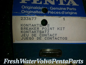 Volvo Penta Breaker Point set P/n 233677 New old Stock Points