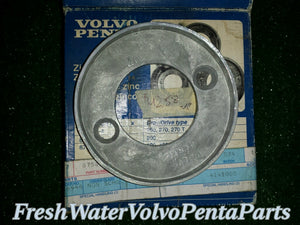 New Zn AQ 100 Volvo Penta Anode Ring kit 875810 NOS new old Stock Zinc NLA