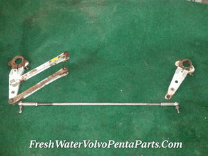 Volvo Penta 290 Dp-A Sp-A twin engine stainless tie rod with threaded steering arms