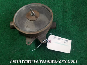 Volvo Penta Bronze Raw water Strainer San Juan Eng Bellingham WN Model 1SS