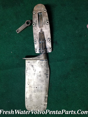 "Bronze Rudder 35"" 89cm Over all 19"" 48cm Rudder Stainless shaft & tiller arm 47 lbs"