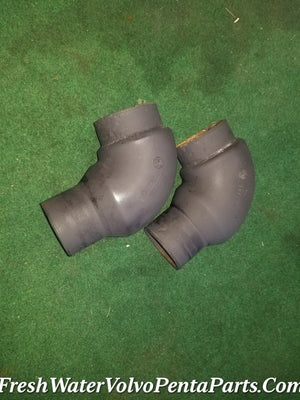 2  Volvo Penta V8 V6 exhaust y-pipe Elbows 3850212