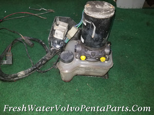 VOLVO PENTA HYDRAULIC  TRIM PUMP AQ 290 DP-A DP-C Sx Dps-M EXTERNAL RESERVOIR