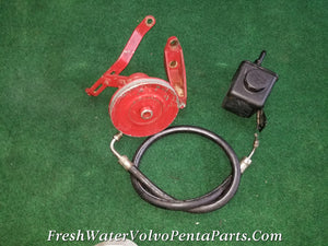 Volvo Penta 740 454 7.4L BBC Servo Power steering pump 856476 & Reservoir HP Hose