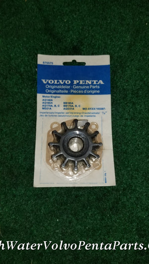 New Volvo Penta impeller kit 875575 rpl 21951350 AQ165 aq170 aq140A MD21A