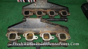Volvo Penta 2 Exhaust manifolds Manifold 3847640 7.4L 8.1L 8.2L Gm Big Block