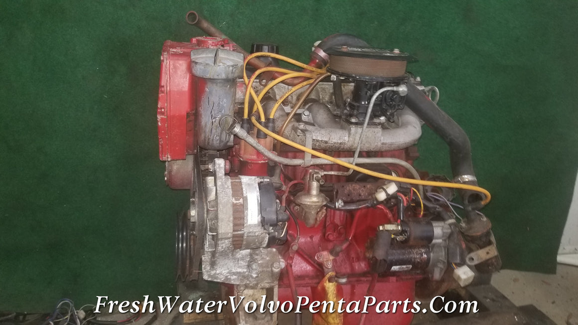 Volvo Penta 230B B230 Block Complete Running drop in Motor Engine 4 Cylinder