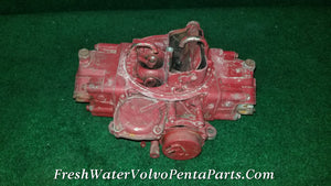 Volvo Penta Holley 4 barrel V8 List 80159 350 5.7L  Dual feed Vacuum Secondary Carburetor