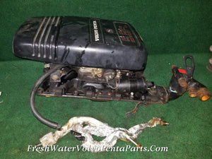 Volvo Penta Ford Holly 4 Barrel Carburetor &  intake & Fuel Lines 5.8FL Motorcraft