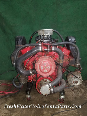 Volvo Penta 5.7L V8 Complete Running Engine 271C, Holley 4 Barrel carburetor 350