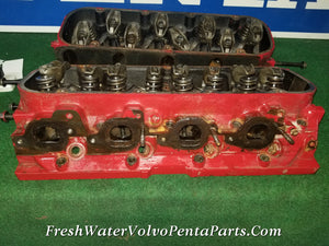 8.1L 496 2 Big Block Chevy Marine Cylinder Heads 12558162 oval Port Gen VII 2001