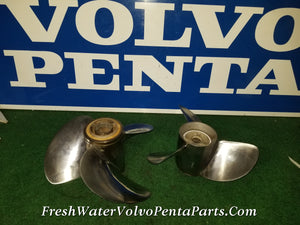 Volvo Penta Dp-Sm Stainless Steel F6 Props propeller Set Front 3851466 Rear 3851476