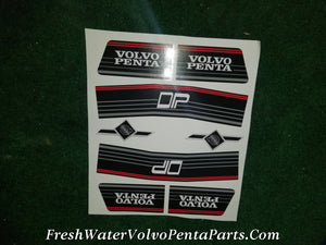 2 Volvo Penta Dp-A Dp-B Dp-C Dp-D Dp-E Dp-C1 Dp-D1 Decal Sets outdrive Stickers